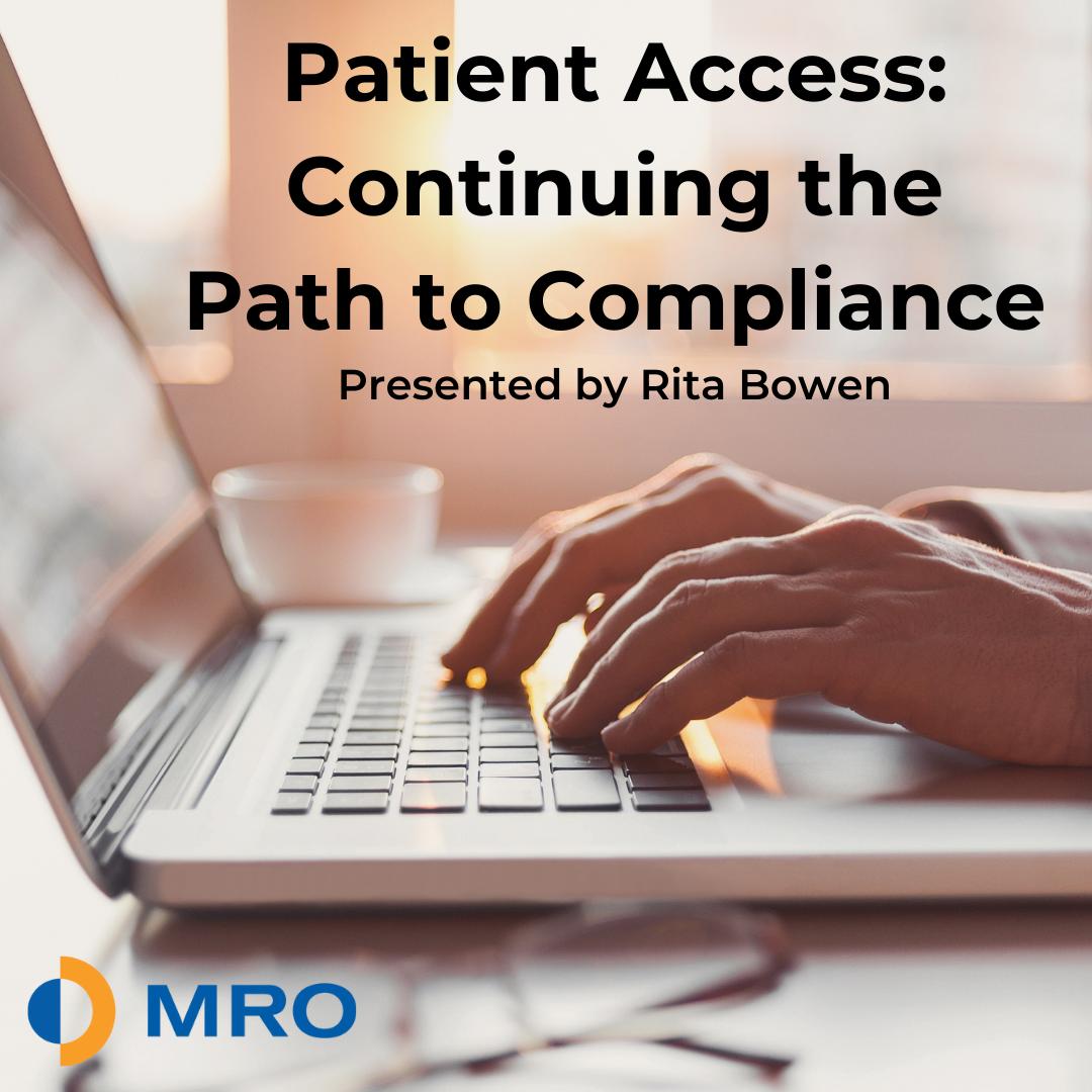 Patient Access Continued (webinar image)